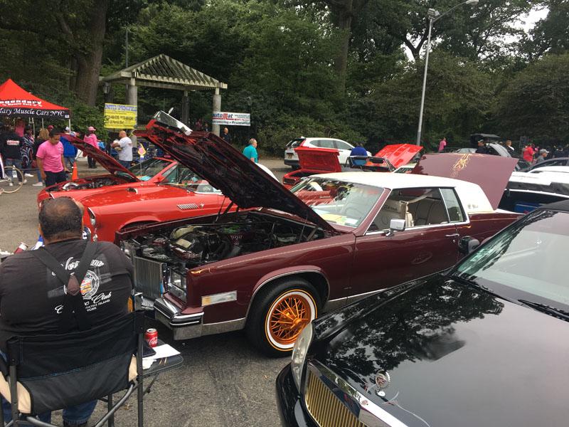 burgandy Cadillac