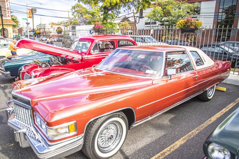 red 1976 Cadillac 2 door